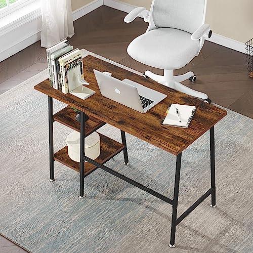 VECELO Computer Storage Workstation Study Desks Writing Table