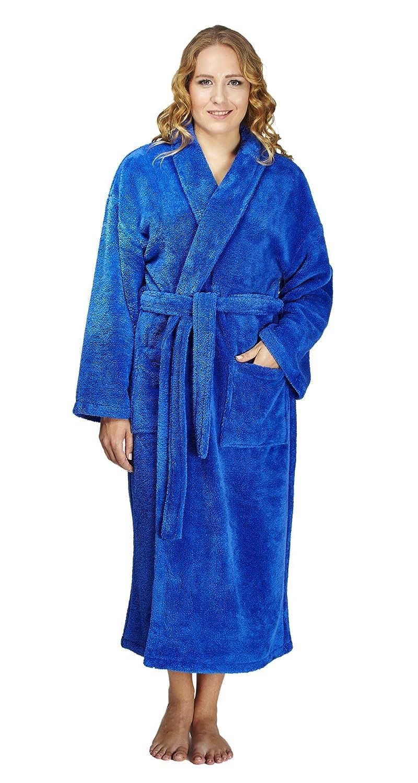 Arus Women's Shawl Fleece Bathrobe Turkish Soft Plush Robe Panarus