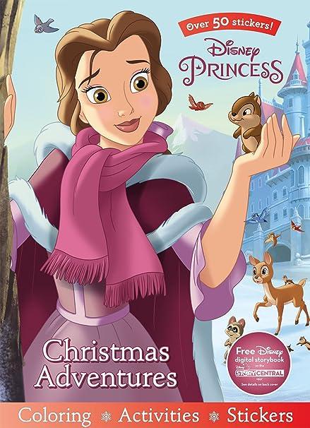 Disney Princess Christmas Adventures Sticker Scenes Coloring Book