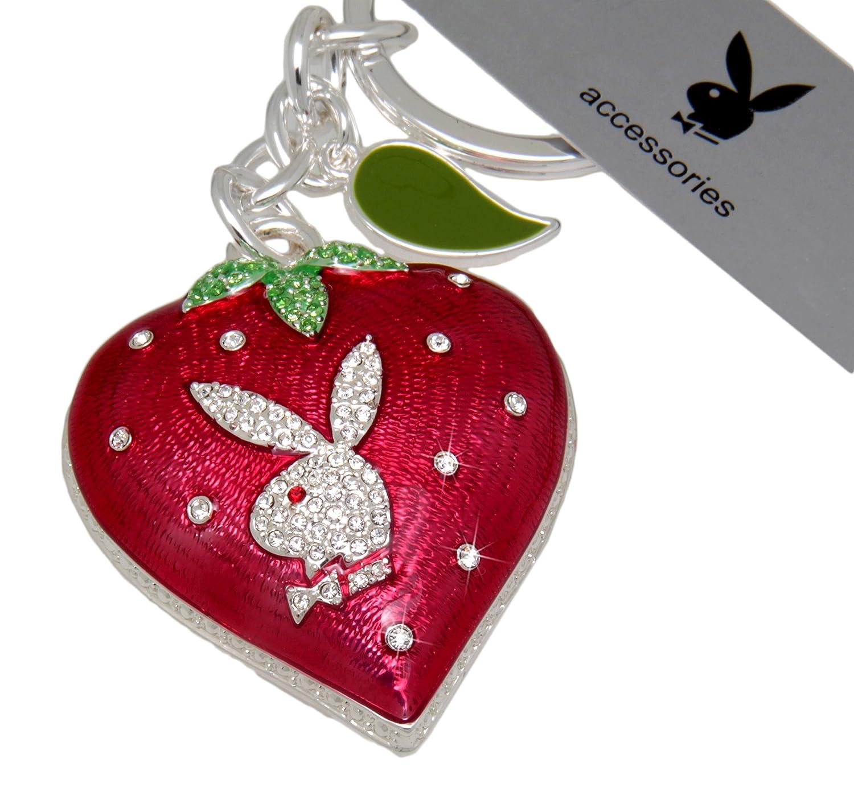 Llavero con forma de fresa con diseño de conejo Playboy ...