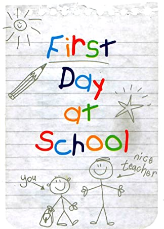 Good luck on your first day at school greeting card starting school good luck on your first day at school greeting card starting school cards m4hsunfo