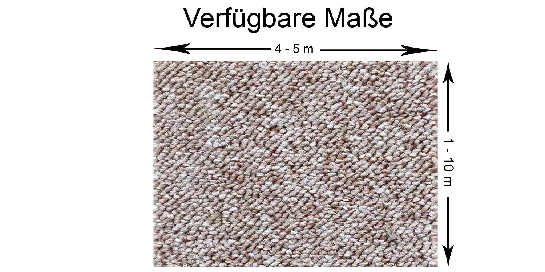 Schlingen Teppich Teppich Teppich in der Farbe grau erhältlich   Teppichboden verfügbar in der Breite 400cm & in der Länge 350cm   Bodenbelag wird als Meterware geliefert   Belastungsklasse (BK22) 19a994