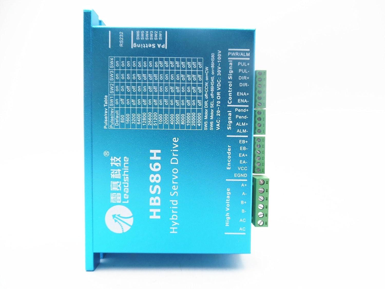 leadshine DSP paso a paso de circuito cerrado controlador hbs86h 8 A 30 - 100 VDC fácil Servo Drive es-d1008 Fit 86 mm NEMA34 de Motor: Amazon.es: Amazon.es