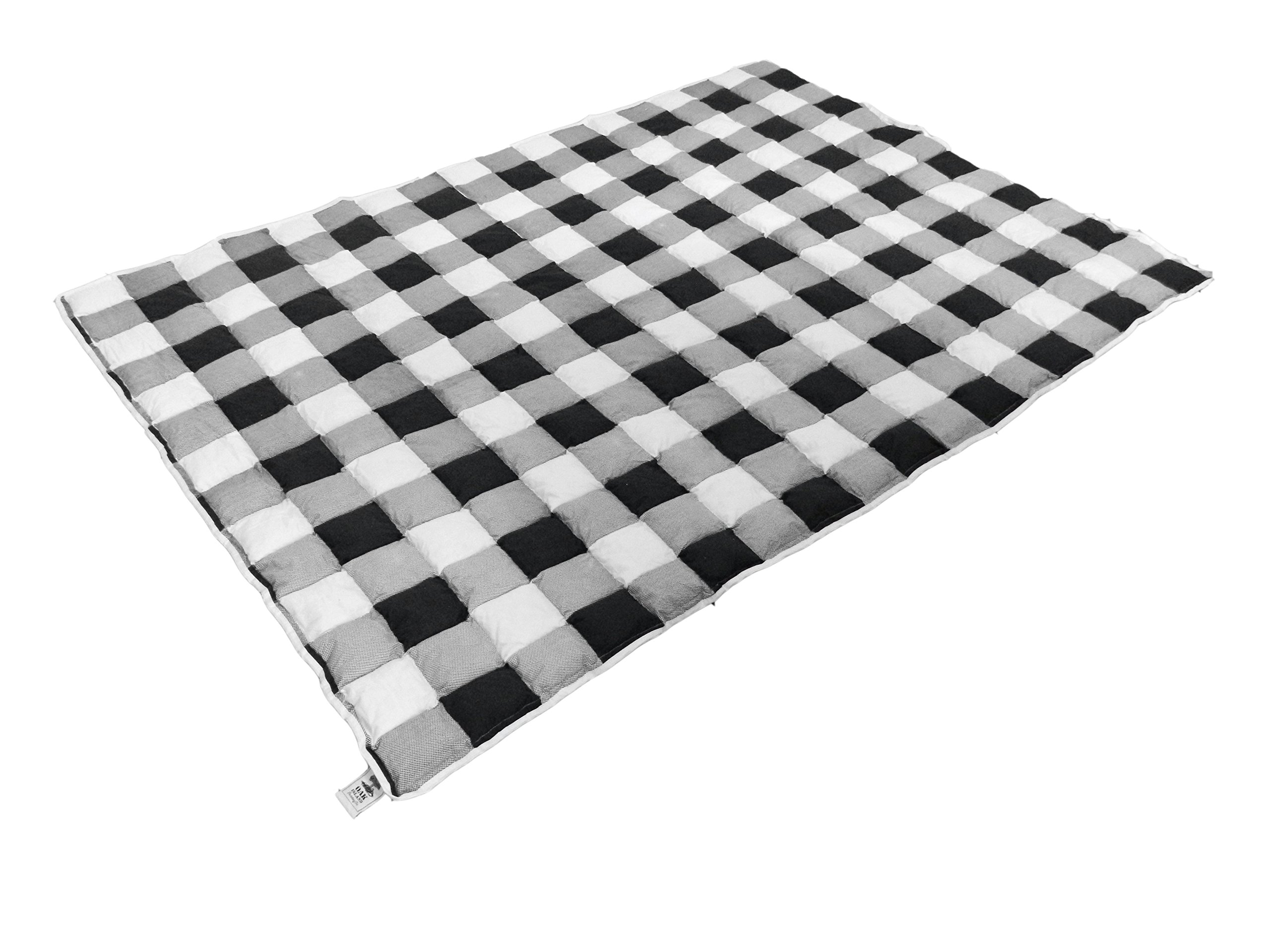 "Weighted Blanket for Women, Men, Adults, and Teenagers – Can Help Autism Spectrum Disorder, Insomnia, and Anxiety– Large and Heavy – 60"" x 84"" – 16 lbs of Pressure - Buffalo Plaid Design"