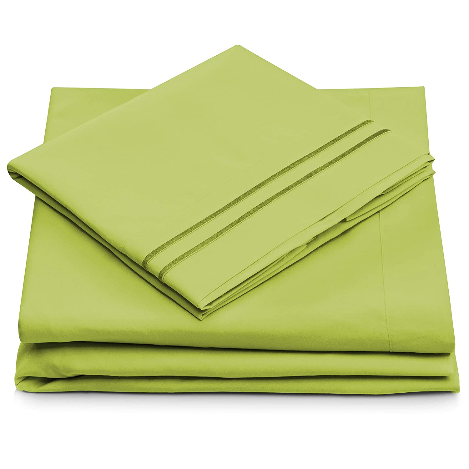Amazon.com: Twin XL Size Bed Sheets   Lime Green Twin Extra Long