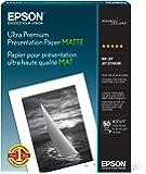 Epson Ultra Premium Presentation Paper MATTE (8.5x11 Inches, 50 Sheets) (S041341)