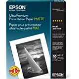 Epson Ultra Premium Presentation Paper MATTE (8.5x11 Inches, 50 Sheets) (S041341),White
