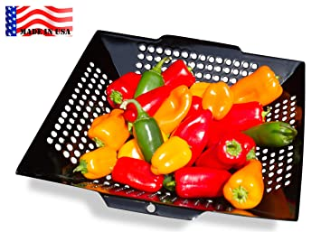 WOK GRILL TOPPER BASKET 12u201d , MADE IN USA By Backyard Dudes ® The NON