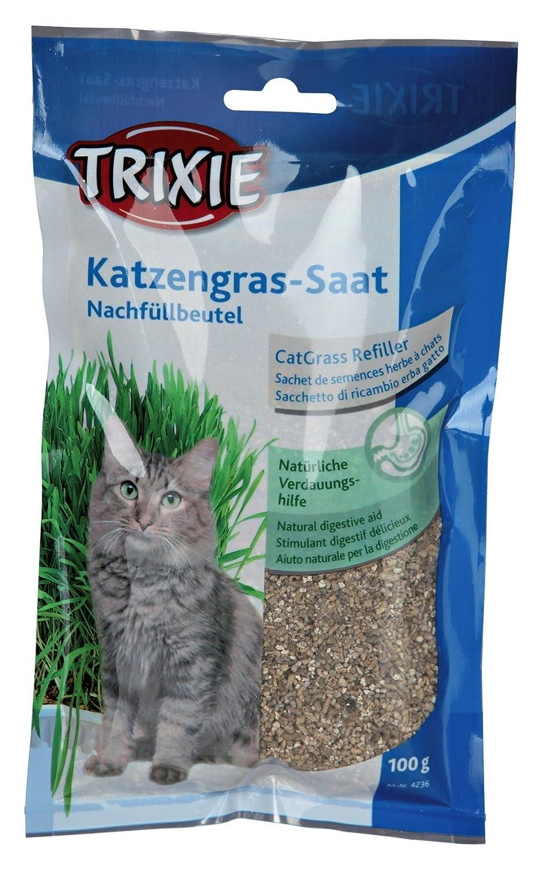 Hierba para gatos con bandeja TRIXIE 100grs. grass