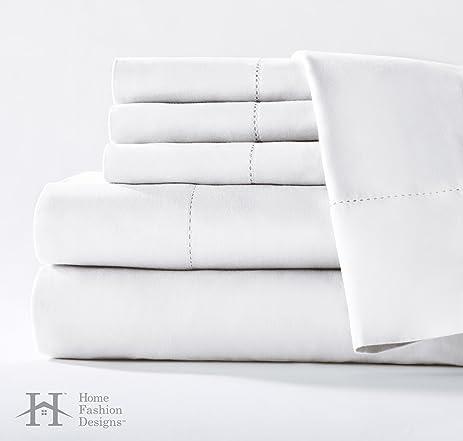 Mira Collection 400 Thread Count 100% Cotton Sateen 6 Piece Sheet Set. Super
