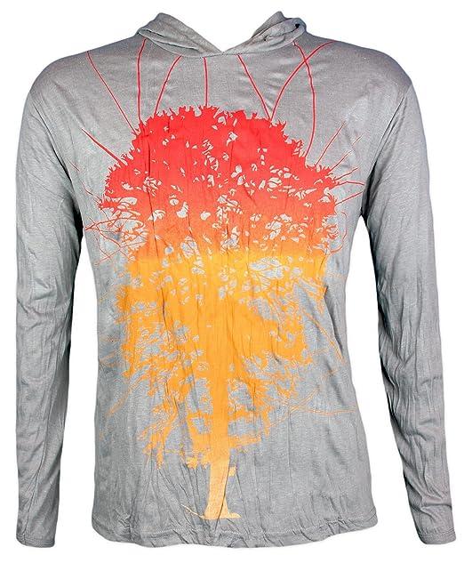 Pure Camiseta con Capucha Hombre Arbol Vida Mundo Yoga Boho ...