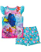 Girls Disney Finding Dory Flutter Tank & Shorts Summer Pajamas Size Med ...