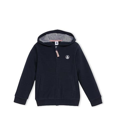 le moins cher divers styles vente en magasin Petit Bateau - Sweat-shirt - Uni - À capuche - Manches longues - Garçon