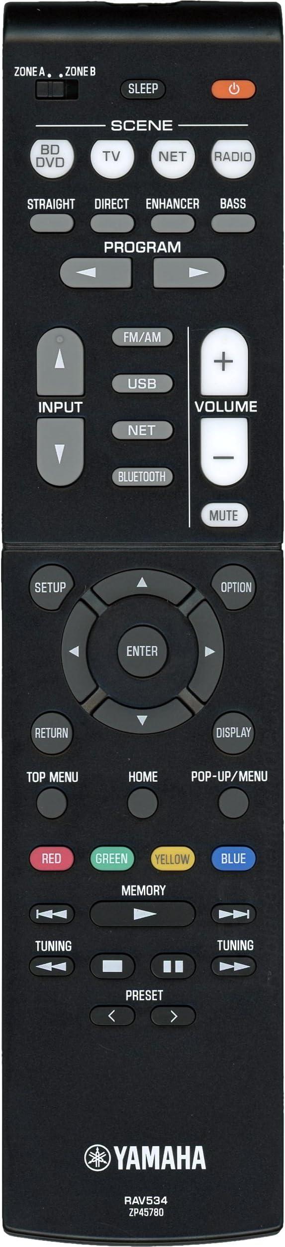 New Yamaha AV Receiver Remote Control RAV534 HTR-4068 RX-V481 RX-V581 RX-V579