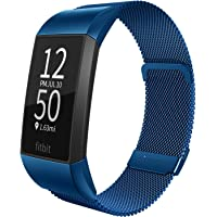 Limque Metal Replacement Bands for Fitbit Charge 3 / Charge 3 SE/Charge 4, Magnetic Wristbands for Women Men Multi-Color