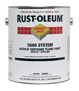 Rust-Oleum 251289 Concrete Saver 5600 System Acrylic Urethane Floor Paint, 1-Gallon, White, 2-Pack