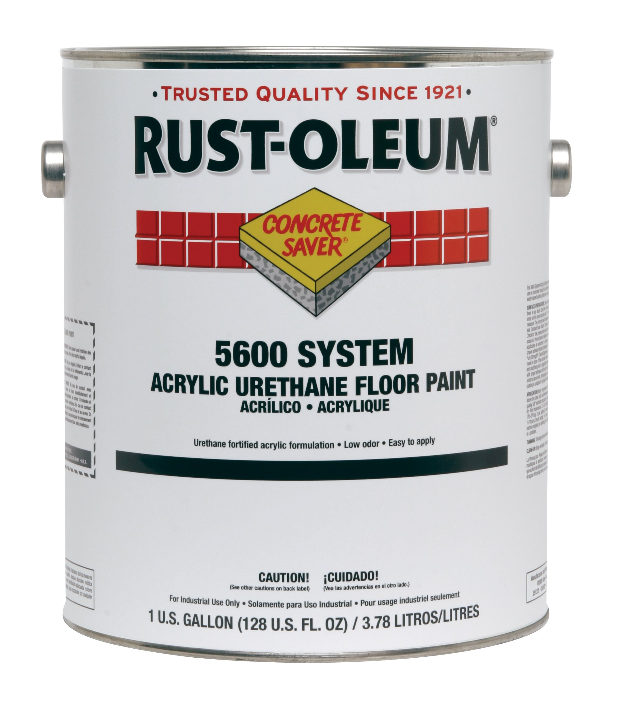 Rust-Oleum 251286 Concrete Saver 5600 System Acrylic Urethane Floor Paint, 1-Gallon, Safety Yellow, 2-Pack