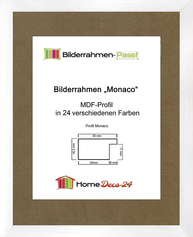 Monaco MDF Bilderrahmen ohne Rundungen 97 x 60 cm Größe wählbar 60 x ...