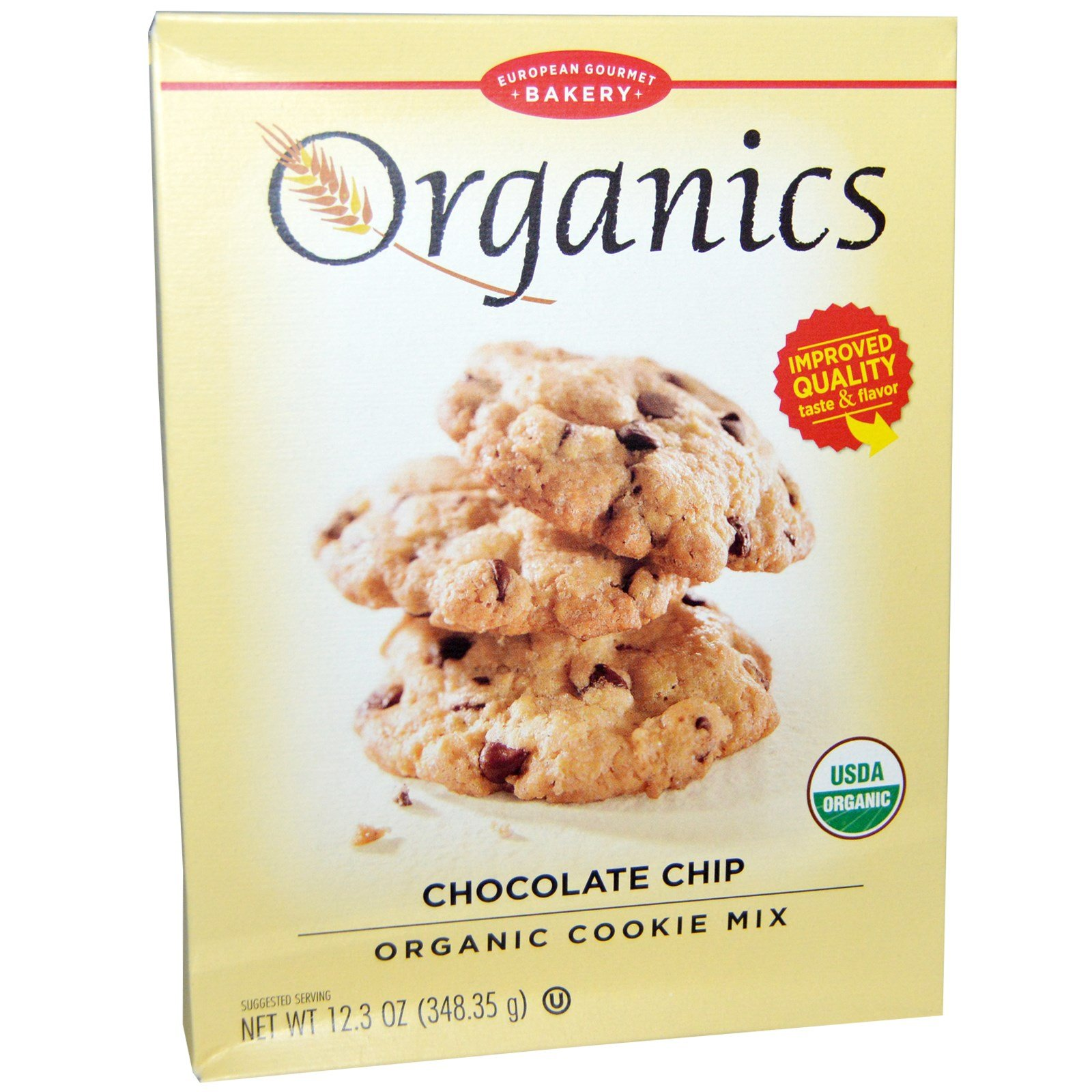European Gourmet Bakery, Organics, Organic Cookie Mix, Chocolate Chip, 12.3 oz (348.35 g) - 2PC