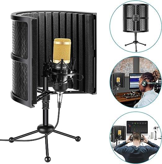 Neewer Escudo Aislamiento Micrófono Compacto Mesa con Espuma ...