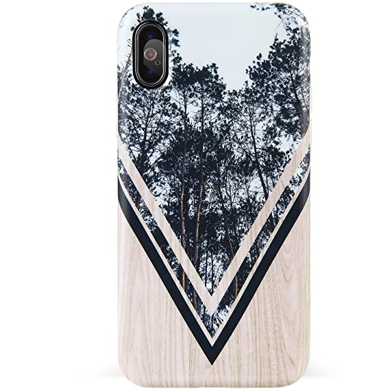 newest 2e186 b5c3b DICHEER iPhone X Case,iPhone Xs Case,Cute Grey Trees and Wood for Women  Girls Slim Fit Thin Clear Bumper Glossy TPU Soft Rubber Silicon Cover Best  ...