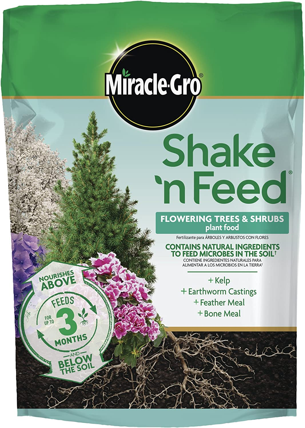 Miracle-Gro Shake 'N Feed Flowering Trees and Shrubs Plant Food, 8 lbs