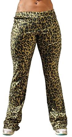 "723fc686077c Physique Bodyware Womens Animal Print Gym/Yoga Bootleg Pant (Small  (23"" Waist"
