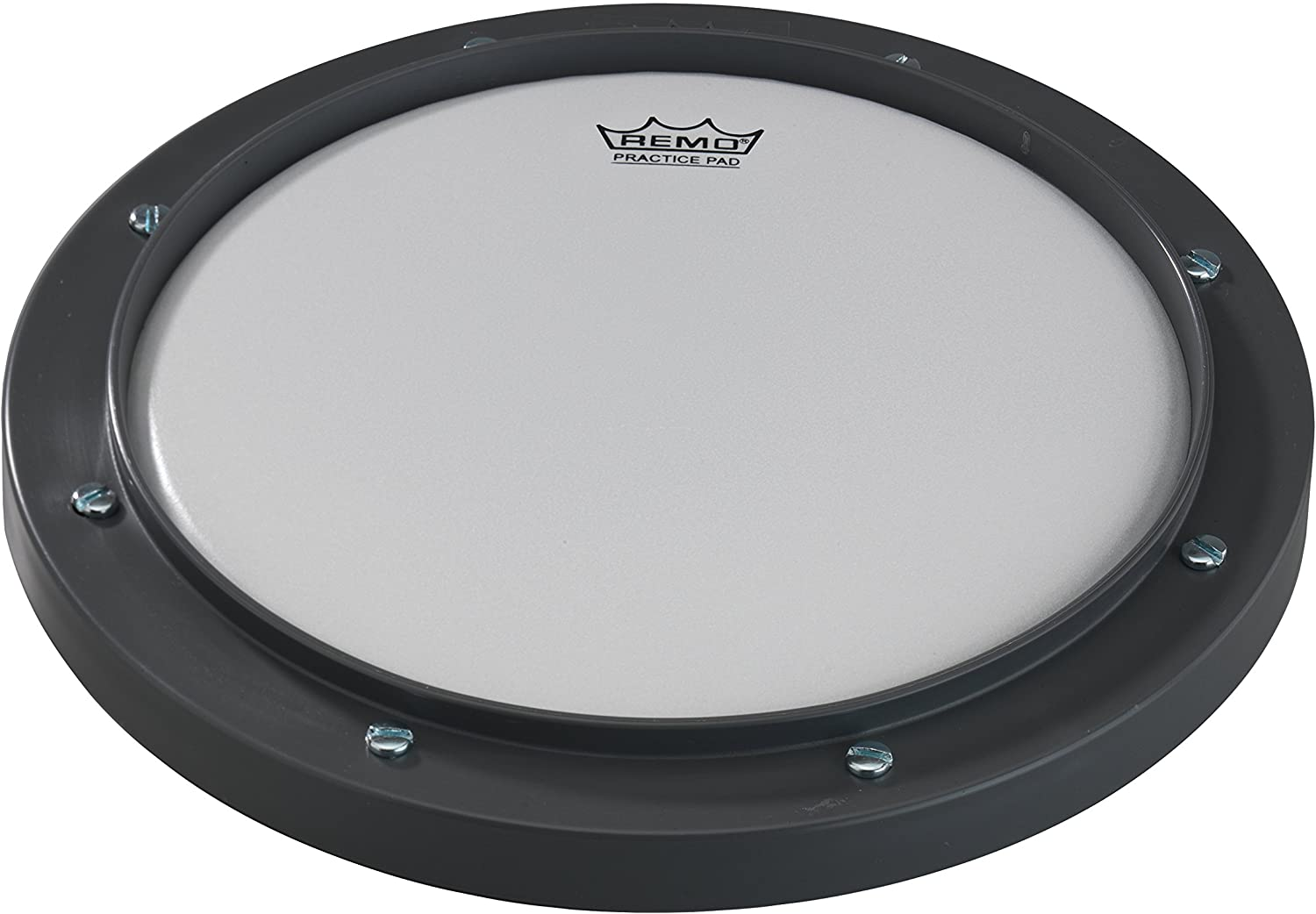 """Remo RT-0008-00 8"""" Gray Tunable Practice Pad with Ambassador Coated Drumhead"""