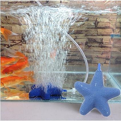 Paleo Estrella de la burbuja difusor de aire para el cultivo hidropónico forma pecera bomba de