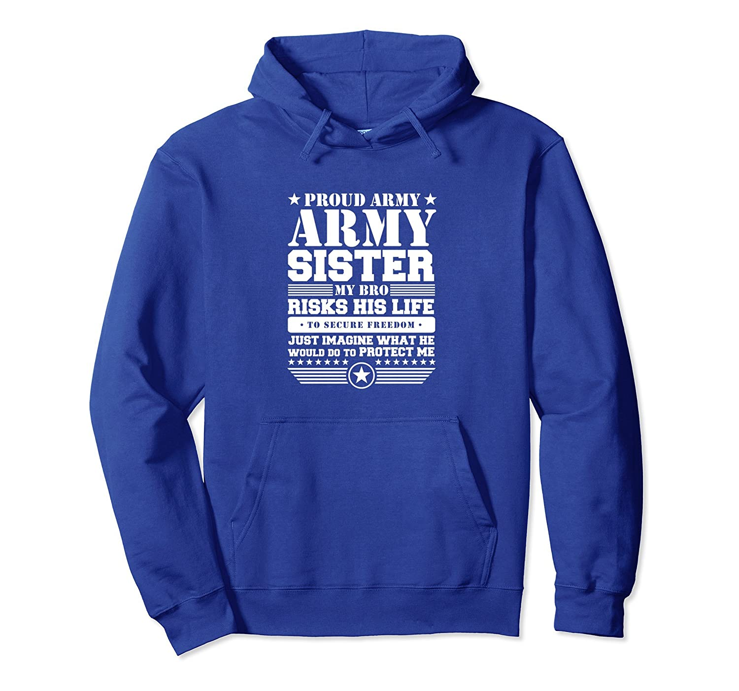 Proud Army Sister Hoodie Military Sister Protects Me-mt