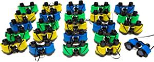 24 Binoculars For Kids - Colorful Assortment Of Kids Binoculars Great For Safari Party Supplies - Fun Toy Binoculars For Outside Nature Toys, Classrooms, Sightseeing, Birdwatching, Pretend Play