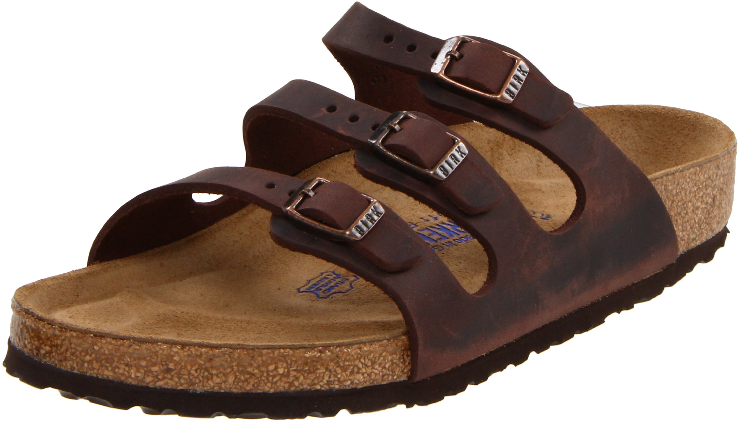 Birkenstock Women's Florida Soft Footbed Birko-Flor  Habana Waxy Leather Sandals - 39 M EU / 8-8.5 B(M) US by Birkenstock