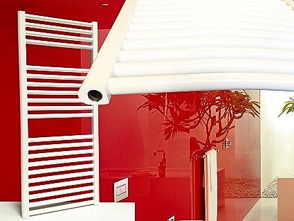 Radiador de baño SMYRNA Plus blanco 400 x 1500 mm. doblado, toallero calentador de