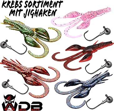 Wild Devil Baits Gummifisch Sortiment 4 Shads mit Jigs