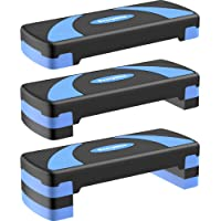 """EveryMile Workout Aerobic Stepper, 4"""" 6"""" 8"""" Levels Height-Adjustable Exercise Step Platform, 31Inch Fitness Step for…"""