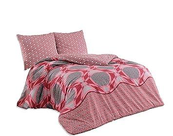 3 Teilig Bettwäsche 200x220 Baumwolle Renforce Mit Reißverschluss L