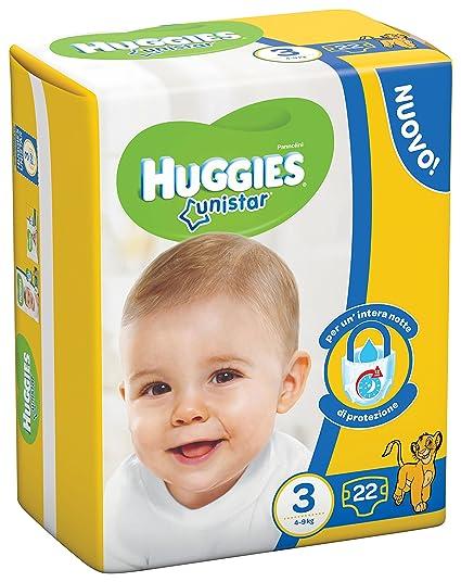 Huggies - Unistar 22 Pañales, tamaño 3 (4-9 kg)