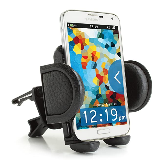 Car Mount Air Vent Phone Holder Cradle by USA Gear with Adjustable Display & 360 Degree Rotation - Works With Samsung Galaxy, Motorola DROID, Apple iPhone and Many More Smartphones