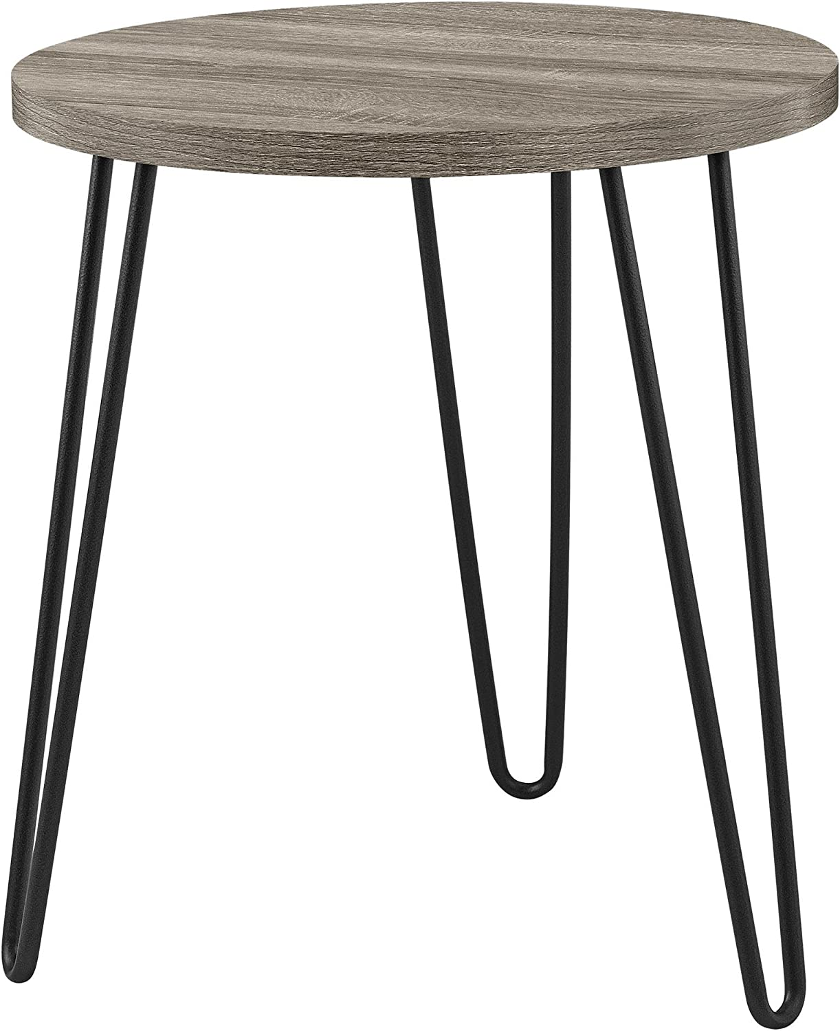 Ameriwood Home 3613307COM Owen Retro End Table, Weathered Oak