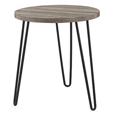 Ameriwood Home 3613307COM Owen Retro End Table, Weathered Oak