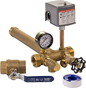 "Plumb eeze Pressure Tank Installation Kit with 1"" Brass Union tank tee to fit most pressure tanks with diameters up to 16"""