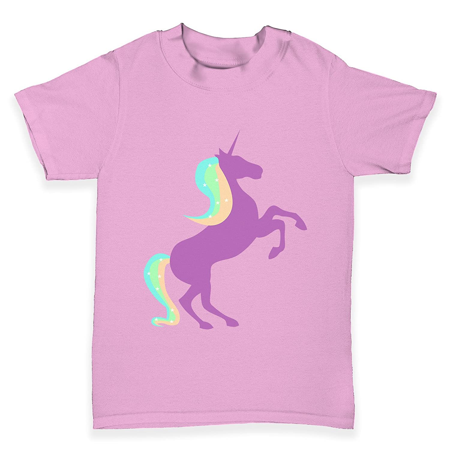 TWISTED ENVY Unicorn Silhouette Baby Toddler Funny T-Shirt