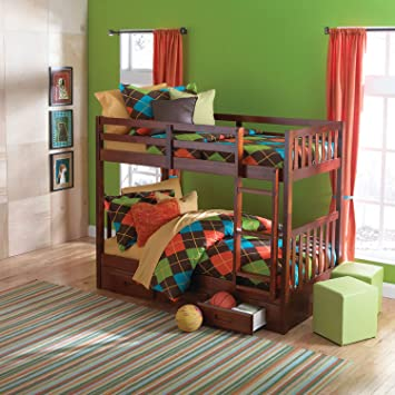 Amazon Com Cambridge 98900tr Dc Slide Out Trundle For Youth Bunk