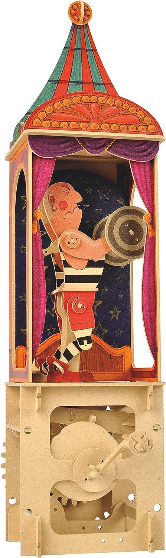 Clockwork Dreams Automata Kit Mini Machine Wood Kit CWD405 Fire Eater Circus Series