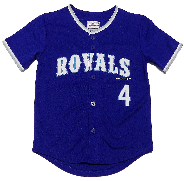 uk availability 38b95 62ad9 Amazon.com: Alex Gordon Kansas City Royals #4 Blue Youth ...