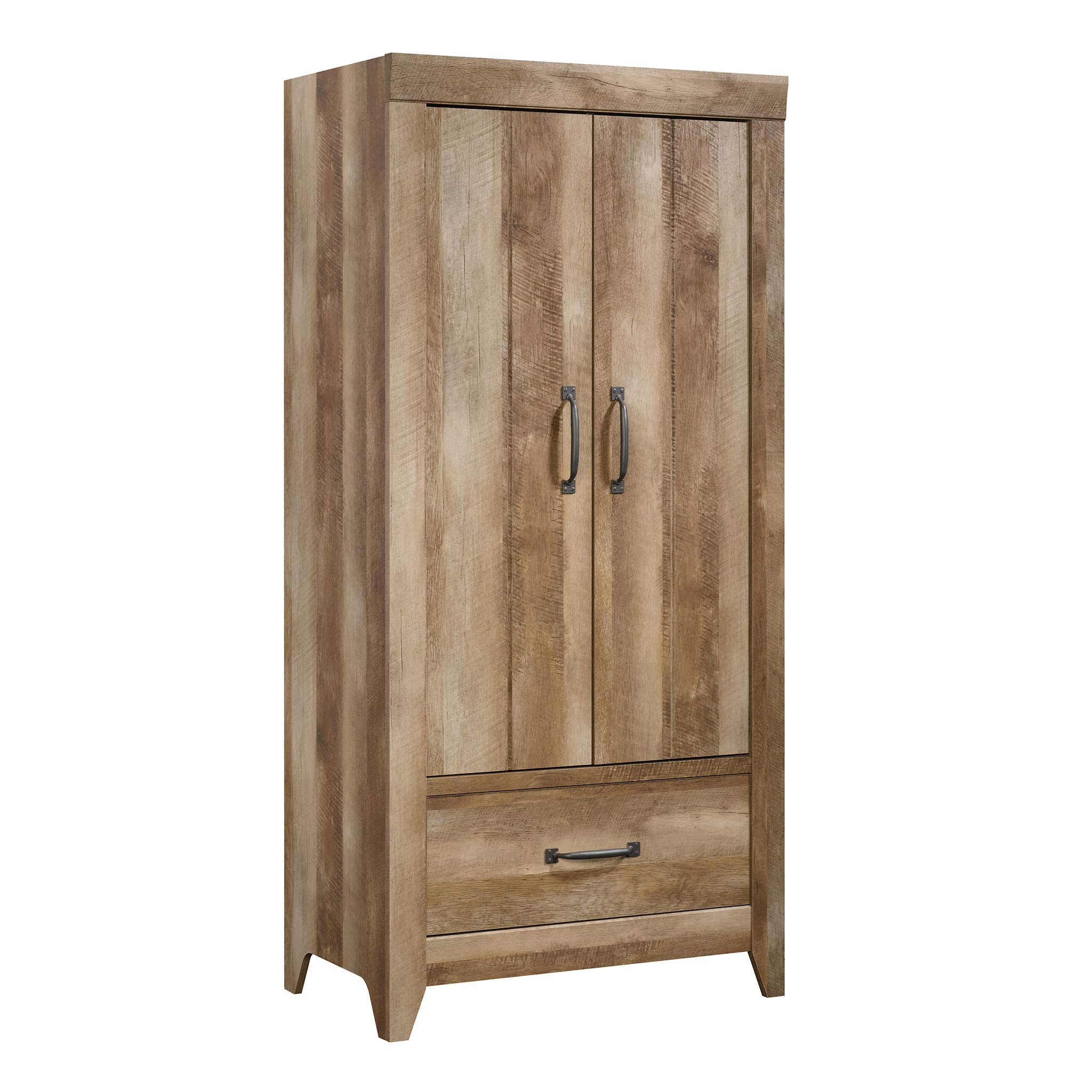 Sauder 424141 Adept Storage Wardrobe, Craftsman Oak Finish