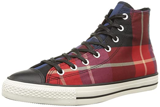 Converse All Star Hi Textile - Zapatillas, Unisex, Multicolor (Red Tartan), 41