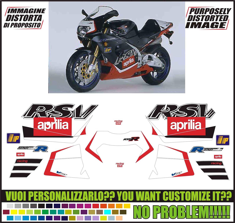 rsv1000r rsvr Aprilia RSV 1000 R 04-09 Colour Chain Decals Choice of Colour