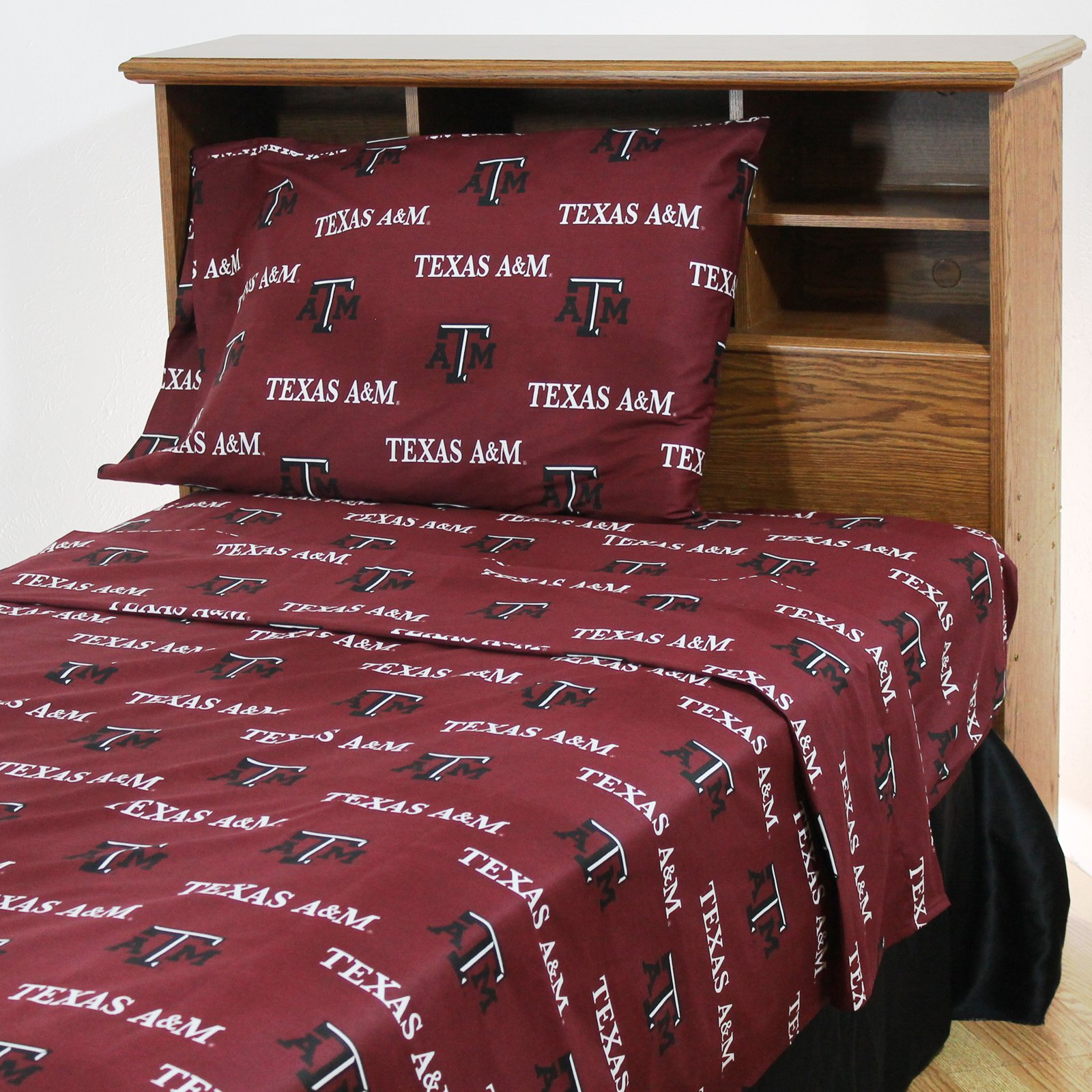 College Covers Texas A&M Aggies Printed Sheet Set - Queen - Solid by College Covers