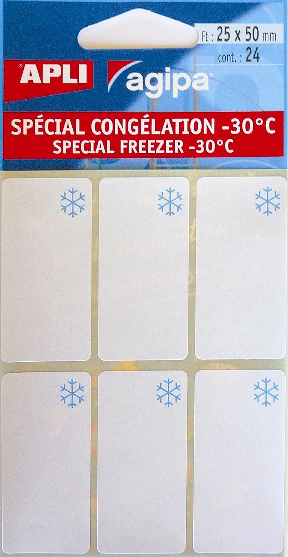 APLI Pochette de 24 /étiquettes cong/élateur 25 x 50 mm